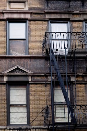 Typical brownstone in Greenwich village neighborhood of New York city photo