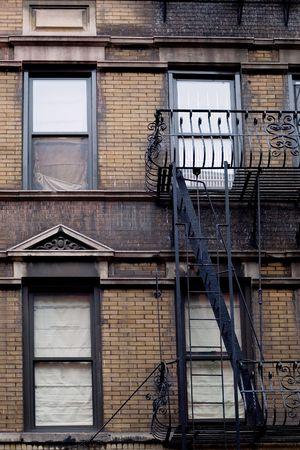 brownstone: Typical brownstone in Greenwich village neighborhood of New York city