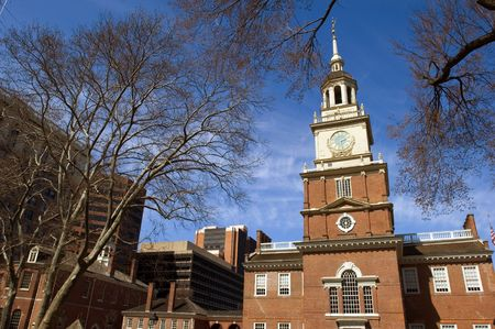 Independence Hall - historical landmark in Philadelphia Stock Photo - 2735063