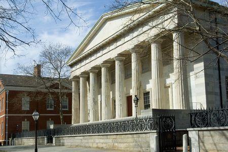 필라델피아: Historical Second Bank of the US in Greek revival style, 1800s, Philadelphia