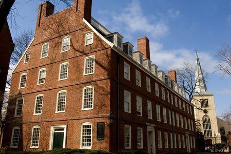 Harvard University campus in Cambridge Massachussets in spring photo
