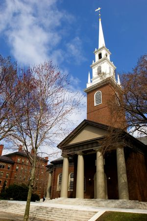 harvard university: Memorial Church at Harvard University campus in Cambridge, Massachussets