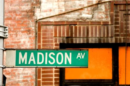 Madison Avenue sign in midtown Manhattan, New York City