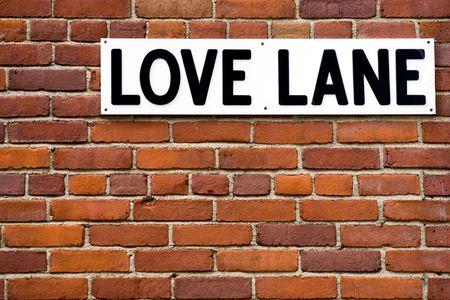 in the heights: Love lane in Brooklyn Heights neighborhood, NYC Stock Photo