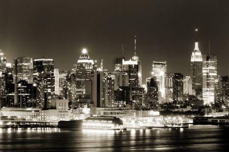 Vue du côté ouest de Manhattan au New Jersey côté de Hudson Banque d'images - 2913694