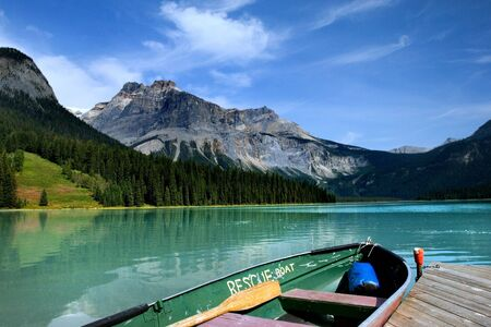Emerald lake in Yoho national park, Canadian Rockies Stock Photo - 3017137