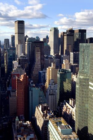 midtown: Manhattan office buildings in midtown, NYC