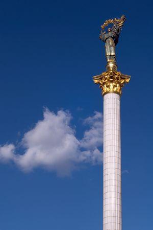 maidan: Column monument on Independence Square, Kiev, Ukraine