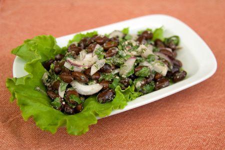 Traditional lobio salad of Georgian (caucasian) cuisineTraditional lobio salad of Georgian (caucasian) cuisine