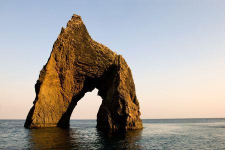 Famous Golden Gate rock in Karadag National park near Koktebel, Crimea photo