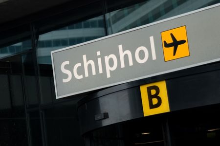 Entrance to Schiphol airport, Amsterdam photo