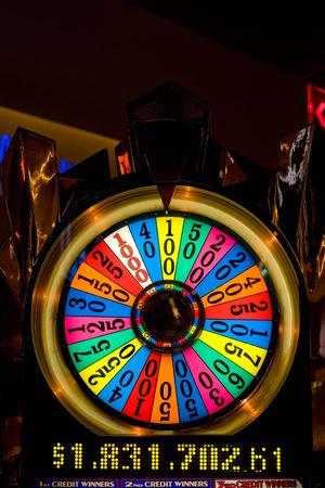 wheel of fortune: Casino floor in Atlantic city, New Jersey