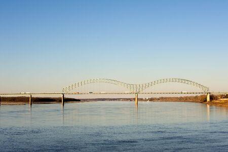 tn: Hernando deSoto bridge over Missippissi river in Memphis, TN
