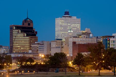 tennessee: Downtown of Memphis, TN from Tom Lee park