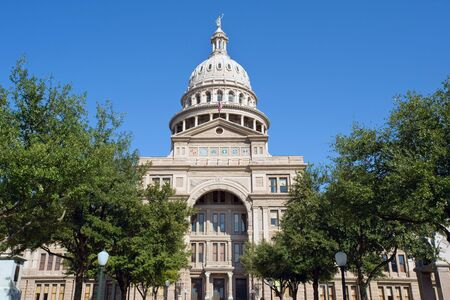 downtown capitol: Texas state senate building in Austin