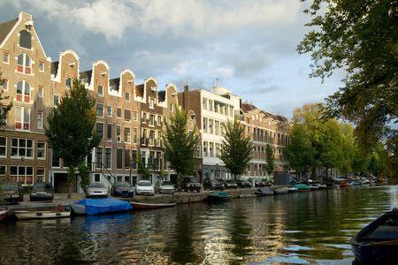 merchant: Merchant houses along the canal, Amsterdam