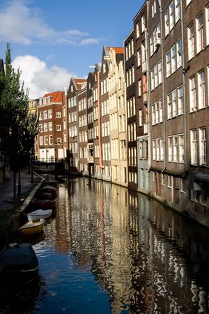 merchant: Merchant houses along the typical Amsterdam canal