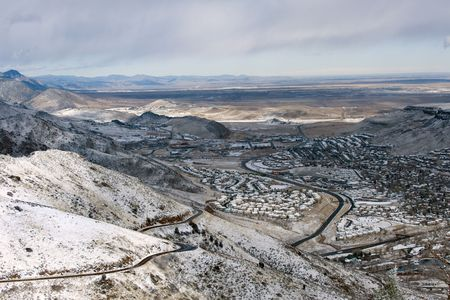 across america: View of city of Golden, Colorado, from above Stock Photo
