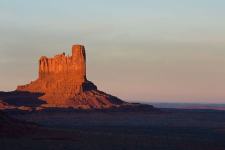 tribal park: Sunset over mesa in Monument Valley tribal park, Navajo reservation