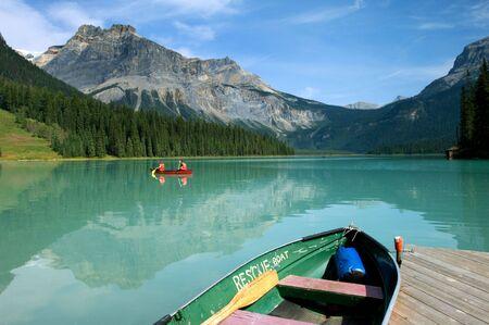 Boat rental in Emerald Lake, Canadian Rockies photo