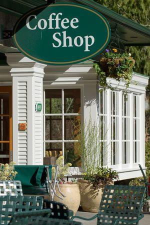 Coffee Shop entrance at botanical garden Reklamní fotografie - 4985185