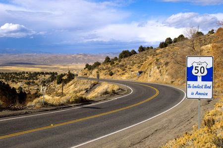 curve road: Route 50 - the loneliest road in America, Nevada