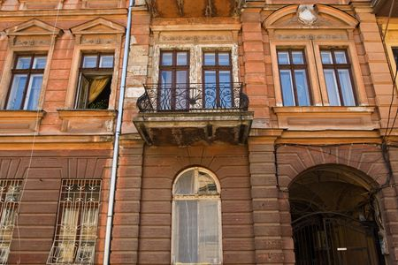 typical: Typical XIX century building in Odessa downtown