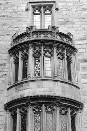 davenport: Detail of Davenport College facade, Yale university