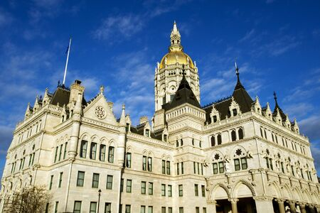 capitol building: Connecticut state capitol building in Victorian Gothic style