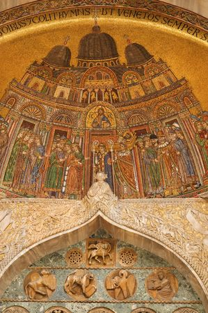 Famous Byzantine mosaics of Basilica di San Marco photo