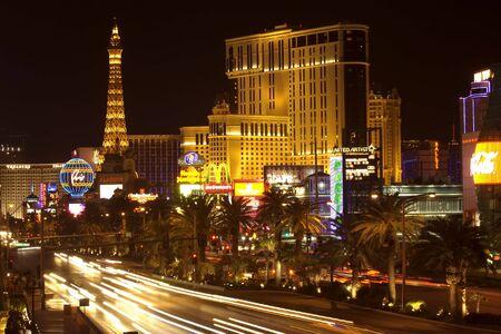 Las Vegas, USA, March 2007- Las Vegas Boulevavard at nigh