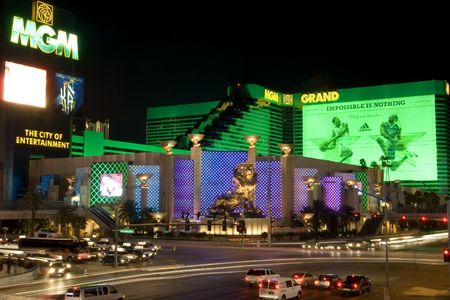 Las Vegas, USA, March 2007-MGM Grand casino at nigh