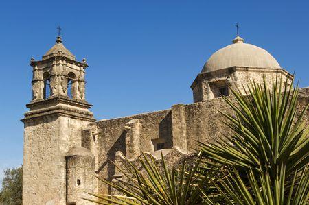 Historical mission San Jose y San Miguel de Aguayo in San Antonio