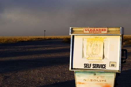 Out of order gas station on Extraterrestrial highway photo