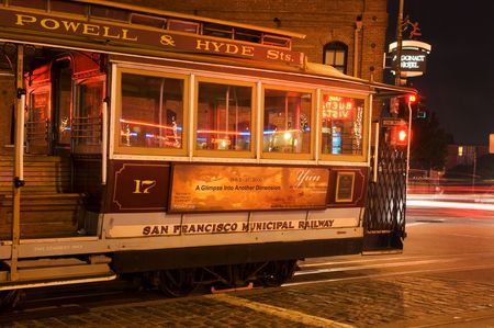 hyde: San Francisco, USA, April 2006 - Powell & Hyde line of famous San Francisco cable car