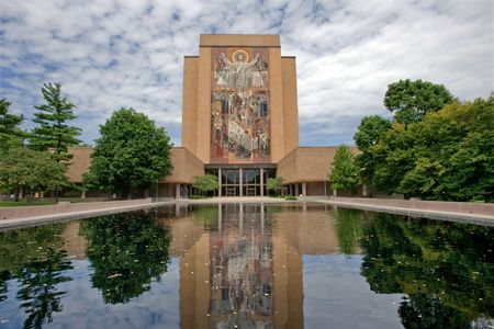 notre dame: Hesburgh Library of University of Notre Dame, Indiana
