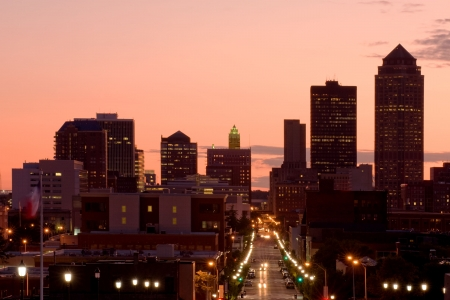 iowa: Des Moines, Iowa - center of insurance industry in US Stock Photo