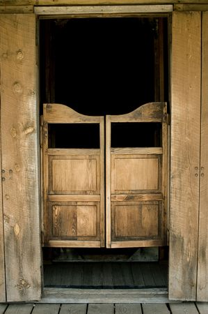 Authentic saloon doors in historic western town, South Dakota photo