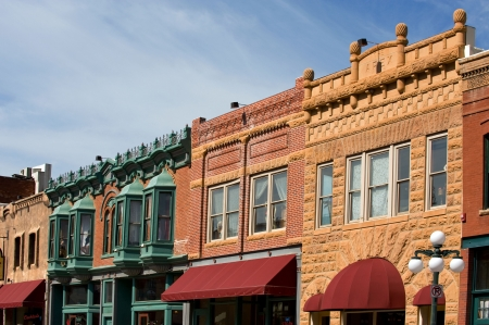 Deadwood, South Dacota - National historical landmark 免版税图像