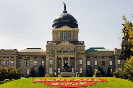 View of Montana State capitol in Helena