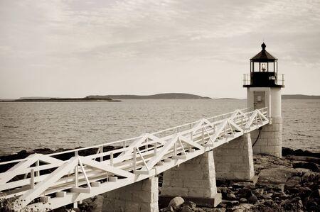 Marshall Point lighthouse on Atlantic coast of Maine photo
