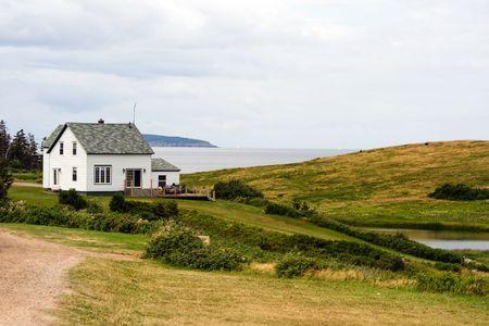 Oceanfront house in Cape Breton, Nova Scotia, Canada photo