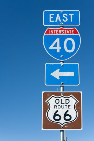 Directional signs along US Interstate I-40 in Texas photo