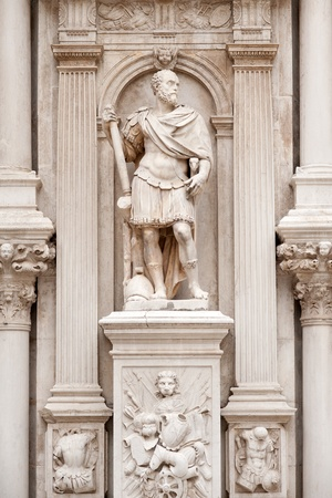 doges: Antique statue in the interior courtyard of Doges Palace, Venice