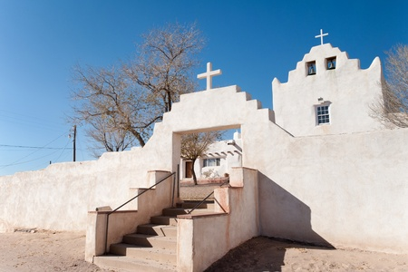 Mission San José de Laguna in Old Laguna, NM 免版税图像