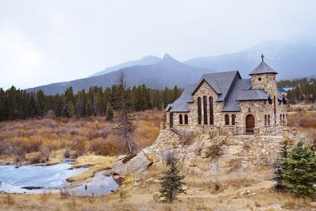rocky mountains colorado: Chapel on the Rock, famous church in Rocky Mountains, Colorado