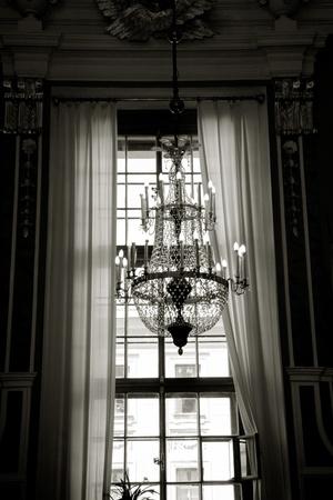 palacio ruso: Araña en el interior la catedral de Pedro y Pablo, San Petersburgo