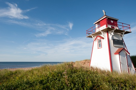 Covehead Lighthouse in Stanhope, PEI Stock Photo
