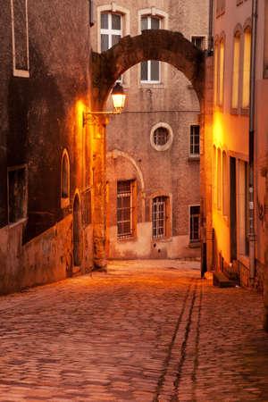 ville: Historical cobblestone street in Ville Haute, Luxembourg city