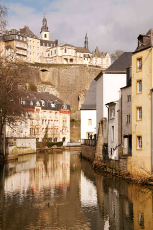 ville: Grund and Ville Haute above, Luxembourg city